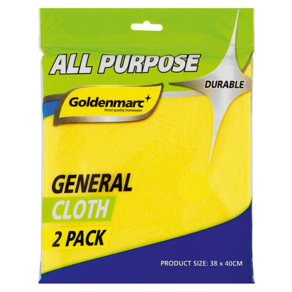 All Purpose General Cloth 2 Pack with Goldenmarc